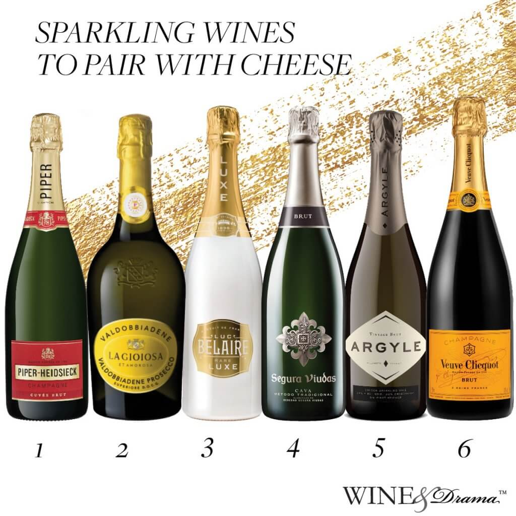 Sparkling wine to pair with cheese