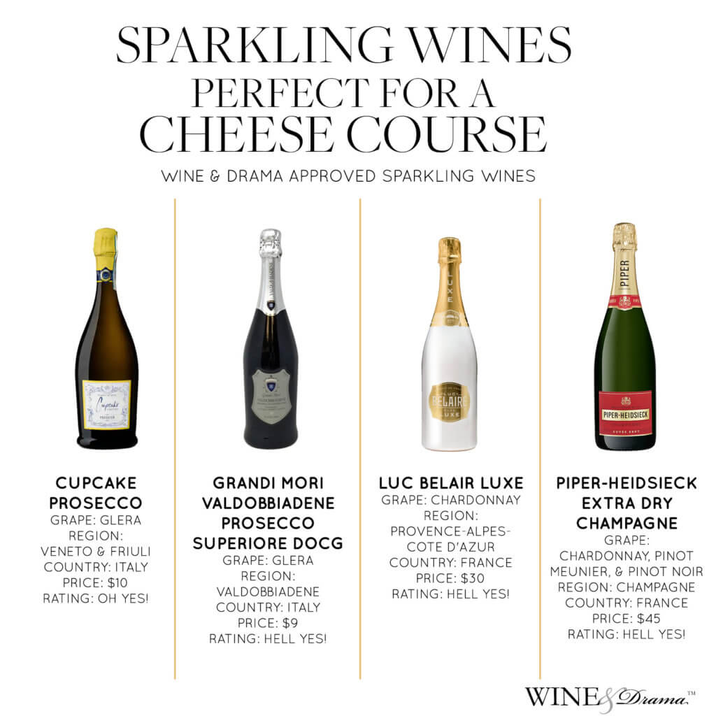 Sparkling Wines & Champagne Perfect for a Cheese Course