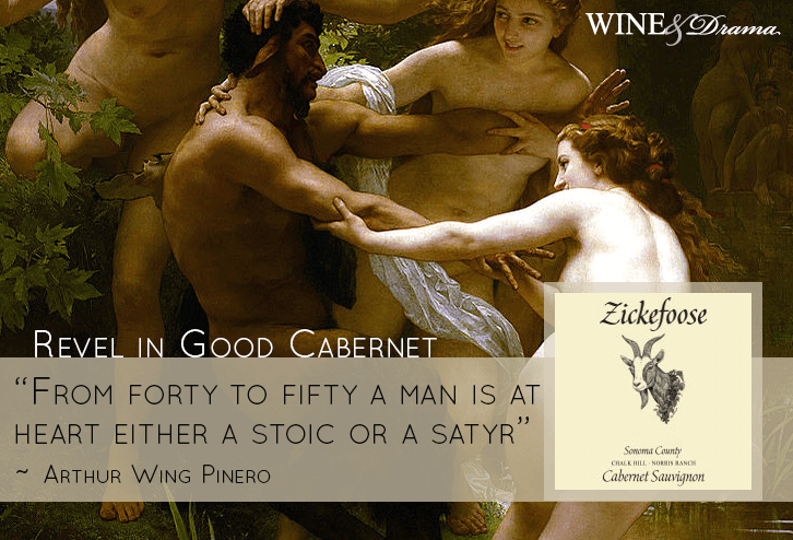 Zickefoose 2009 Cabernet Sauvignon Wine Review & the Dirty Dancing Satyr