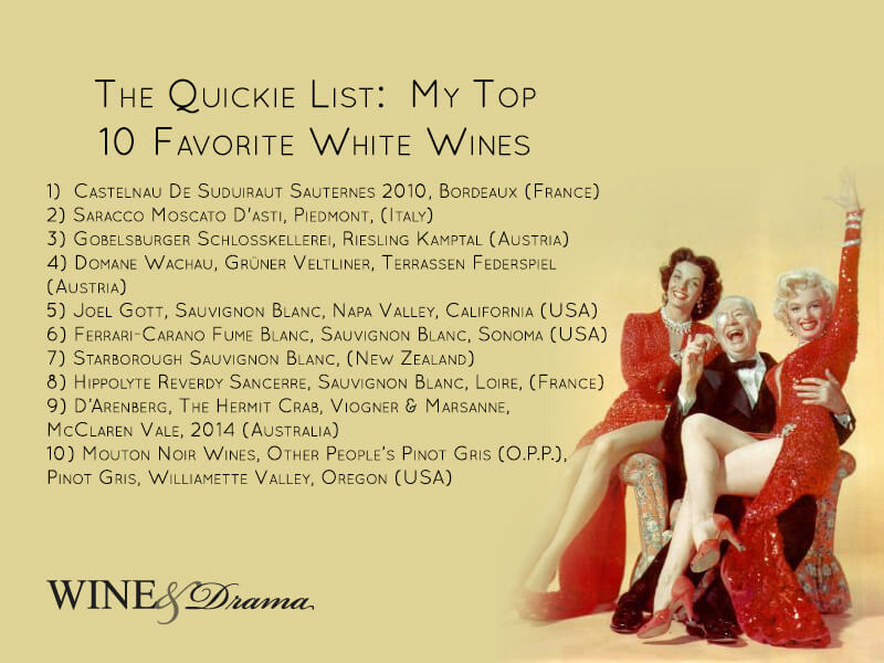 Top 10 Best White Wines