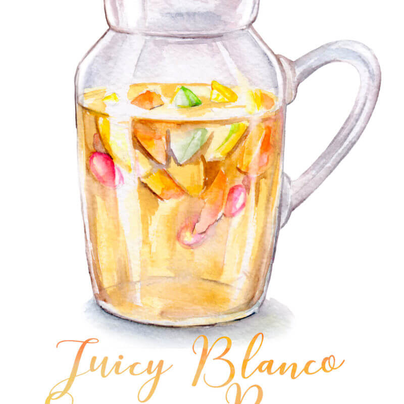Juicy Blanco Sangria Recipe