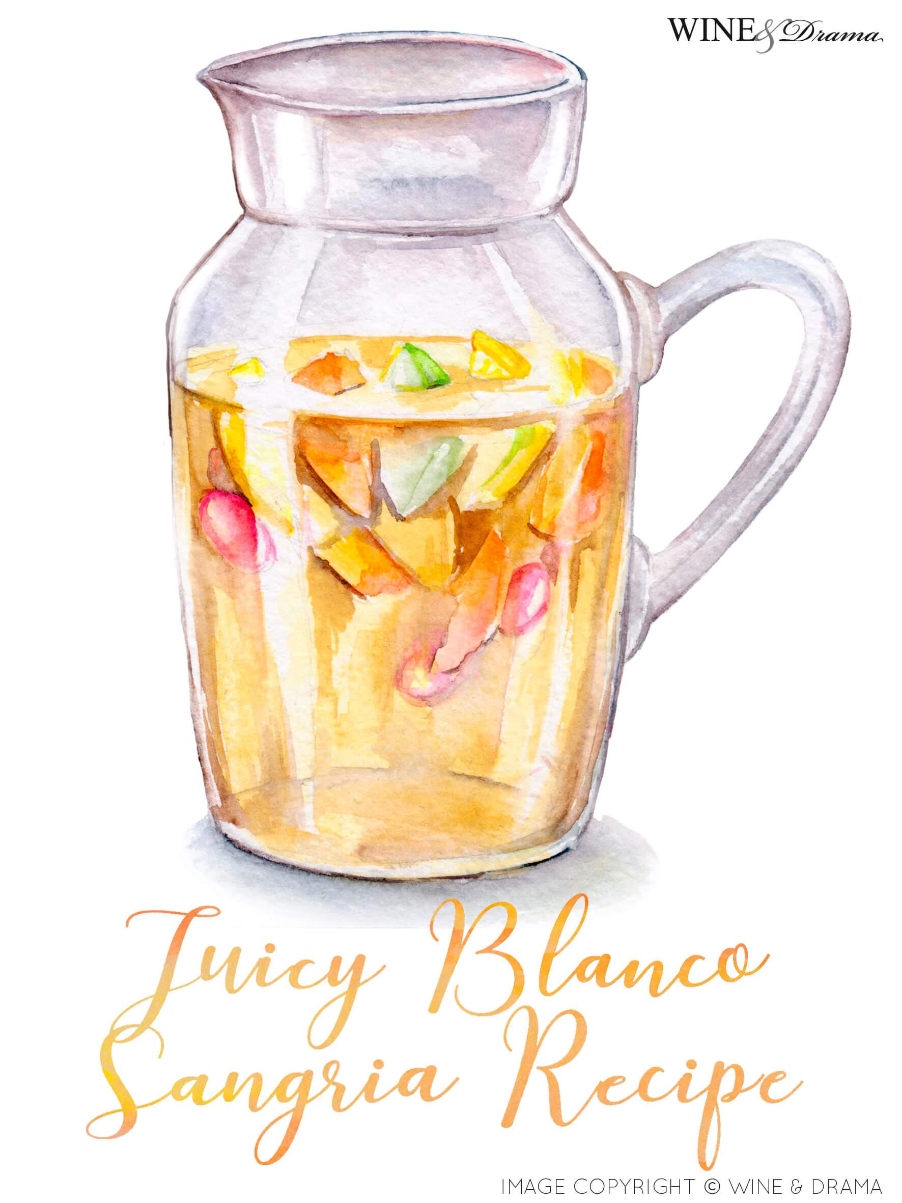 Juicy Blanco Sangria Recipe