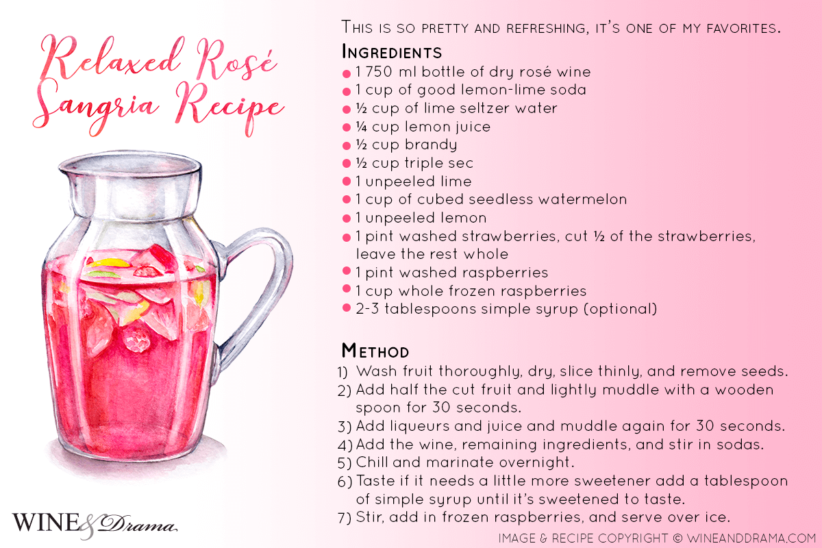 Relaxed Rosé Wine Sangria Recipe