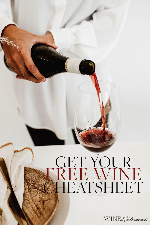 Get your free wine and food pairing cheatsheet